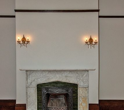 Marble Fireplace in Living Room - Copy